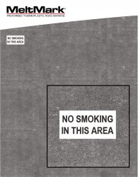 "MeltMark Skylt ""No smoking in this area"" 30x60 cm svart/vit"